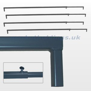 Telescopic Stall Bar Set