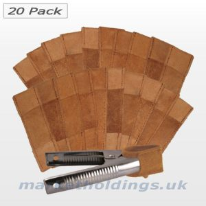 20 Pack Leather Clip Sleeves