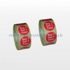 BOGOF Promotional Stickers