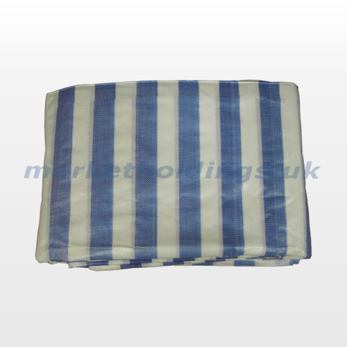 Blue and White Striped Cover