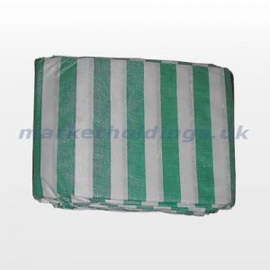Green and White Striped Cover