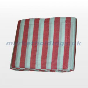 Red and White Striped Cover